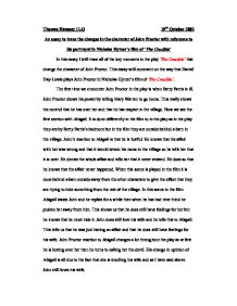 Example Of A Good Thesis Statement For An Essay Character Essay Abigail Williams Writefiction Web Fc Com The Crucible  Critical Analysis Essay Argumentative Essay Topics On Health also Essay On Global Warming In English Dear Graduate Scholar  Theatre Arts  University Of Pittsburgh The  Writing Essay Papers