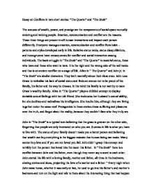 Essay On Conflicts In Two Short Stories The Quartet And The Snob  Page  Zoom In
