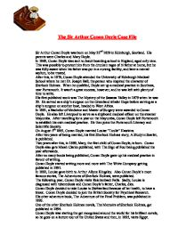arthur conan doyle 5 essay Gcse: arthur conan doyle  how does arthur conen doyle manipulate the conventions of the  to what extent are chapters 5 and 6 of doyle's hound of the.