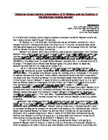 Sherlock holmes speckled band essay
