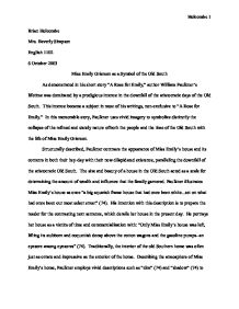 Essay on a rose for emily