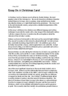 an essay on a christmas carol i will discuss how dickens uses  page 1 zoom in