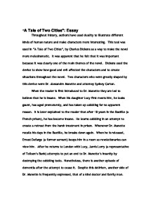 tale of two cities essay co tale of two cities essay