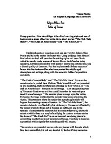 how does edger allan poe s writing style and use of lexis create a   prose fiction · edgar allan poe page 1 zoom in