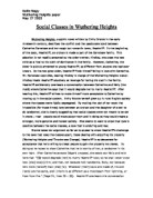 Essay about wuthering heights