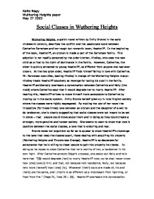 social classes in wuthering heights gcse english marked by  page 1 zoom in