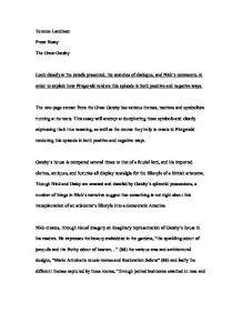 How To Write An Analytical Essay Page   Essays On Nuclear Power also World History Essay The Great Gatsby  Gcse English  Marked By Teacherscom Diary Of Anne Frank Essay