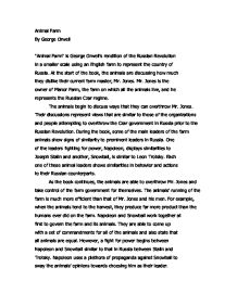 Mr jones animal farm essay