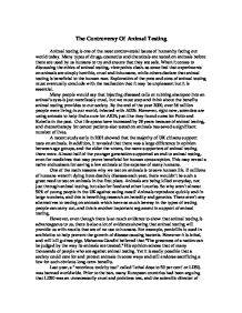 limit animal testing essay Animal testing essays / animal testing psychologoy 101 chapter 2 biology and behavior animal testing is not a problem in today's society because it is beneficial to.