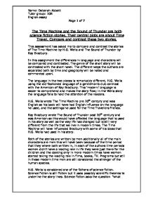 English Reflective Essay Example Page  Zoom In Essays On Health Care Reform also How To Write An Essay Proposal The Time Machine And The Sound Of Thunder Are Both Science Fiction  Thesis Statement Examples Essays