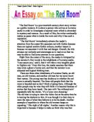 the red room by hg wells essay