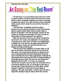 The Red Room' is a pre-twentieth century short story written as a ...