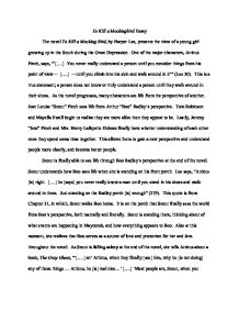 to kill a mockingbird perspective essay Symbolism in to kill a mockingbird essay 526 words | 3 pages to kill a mockingbird is a book with several examples of symbolism although the story is seen through a child's perspective, it includes multiple instances of symbolism, some more obvious than others.