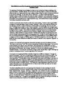 Critical Essay of the Studies of Appreciation