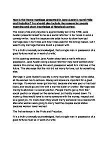 context of pride and prejudice essay