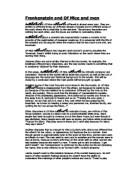 Essay Papers On Frankenstein