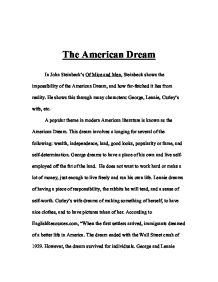 Essays On The American Dream