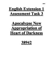 apocalypse now and heart of darkness comparison essay