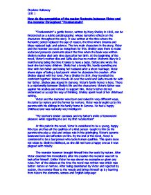 victor and the monster throughout essay Free college essay frankenstein themes both victor and the monster feel revenge throughout the novel the monster feels revenge on both victor and 555.