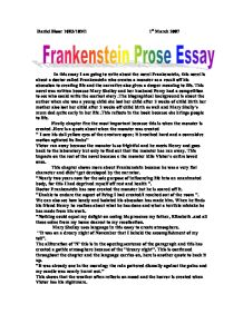 gcse english frankenstein essay
