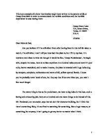 Camp green lake stanleys sample letter gcse english marked by page 1 zoom in spiritdancerdesigns