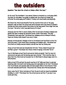 the outsiders how does the attack on johnny affect the boys  page 1 zoom in