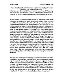 nabokov essay on dr jekyll and mr. hyde Vladimir nabokov's lecture on strange case of dr jekyll and mr hyde from  lectures on literature 1/ nabokov dismisses the interpretations of this book as a mystery story (which, to him, is the very negation of style, conventional literature), a detective story (as a detective story, it is lame), a parable or.