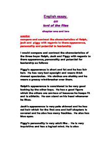 lord of the flies compare and contrast the characteristics of page 1 zoom in