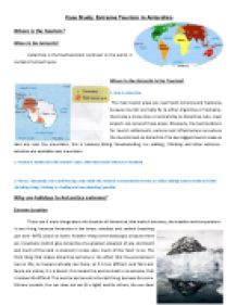 Extreme Environment Case Study - GCSE Geography: Tourism