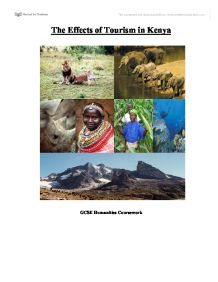 geography coursework effects tourism Our step-by-step guide to gcse geography controlled assessment is designed to support you and make the process clearer from contacting your controlled assessment.
