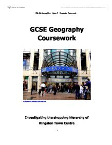 shopping hierarchy geography coursework