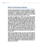 katrina results essay The history of hurricane katrina essay 1796 words | 8 pages the history of hurricane katrina on august 29, 2005, the third strongest and biggest hurricane ever recorded in american history hit the gulf coast at eight o'clock am.