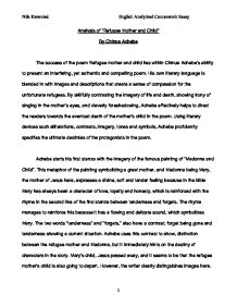 analysis of refugee mother and child by chinua achebe gcse  page 1 zoom in