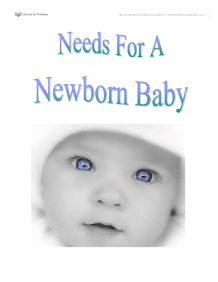 Needs of a Newborn Baby - GCSE Health and Social Care