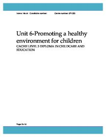 cache unit 6 promoting a healthy lifestyle Industry professionals from the buxton spa and wellness conference 2015 offer their views on the importance of promoting a helathy lifestyle to their custome.