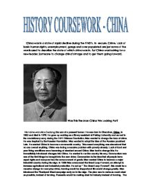 gcse history china coursework
