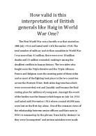 history coursework general haig