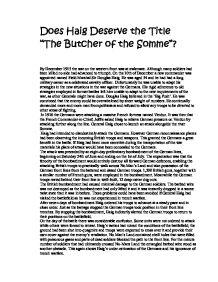 general haig butcher somme essay