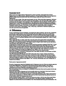 appeasement of hitler essay