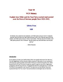 nazi opposition essay Opposition and resistance within nazi germany gle prepare an essay that takes a point of view on a social studies topic and properly cite evidence.