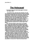 history report on the holocaust gcse history marked by the holocaust