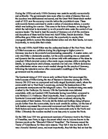 an introduction to the history of socially economically and politically unstable germany 13 methodological implications we choose germany for comparison because this nation is rich in historical examples of how government institutions changed the opportunity to acquire, maintain and destroy social trust in fact, the case of germany illustrates a historical situation in which politically unstable conditions were.