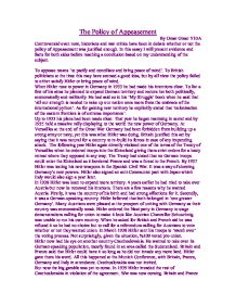 was appeasement justified essay Some historians say that the appeasement wasn't justified and that chamberlain was a weak person while of the the appeasement for ap european history (2005, august 21) in writeworkcom retrieved 19:28, march 04, 2018, from.
