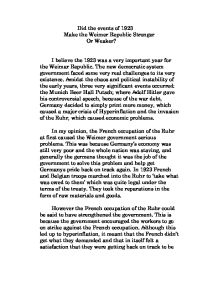 an introduction to the new government of germany in 1918 the weimer republic Modern history – hsc nazi germany topic page 1 of 14 weimar republic: emergence of the democratic republic on 2 october 1918 – the reichstag told the german people that they could not win.