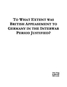 was appeasement the right policy essay Essay writing guide learn the art to what extent was appeasement the correct policy during the the policy of appeasement showed the ussr that britain and.