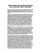 the political problems facing the weimar republic