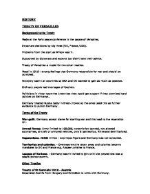 Treaty of versailles essay