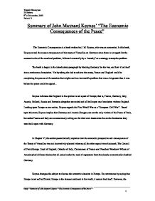 how justified was the treaty of versailles gcse history summary of john nard keynes the economic consequences of