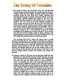 History treaty of versailles essay
