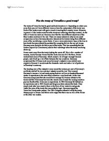 treaty of versailles essay introduction View and download treaty of versailles essays examples also discover topics, titles, outlines, thesis statements, and conclusions for your treaty of versailles essay.